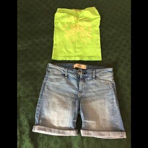 Hollister Shorts/ Tube Top